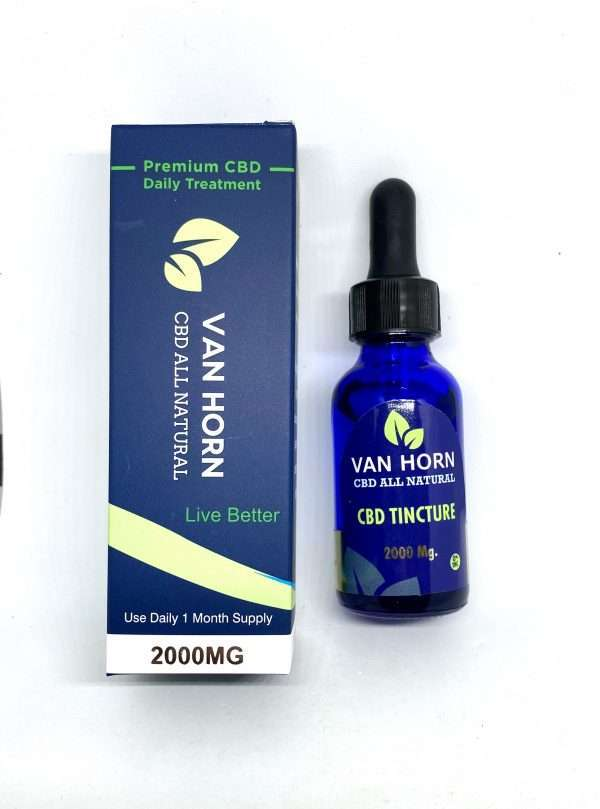 van horn tincture 2000mg front blue dropper bottle box